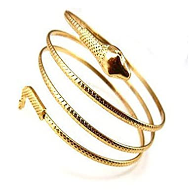 422584da7c0 Amazon.com: JUESJ Punk Metal Coiled Snake Spiral Upper Arm Cuff Armlet  Armband Bangle Bracelet for Women Unique Jewelry (Gold): Jewelry