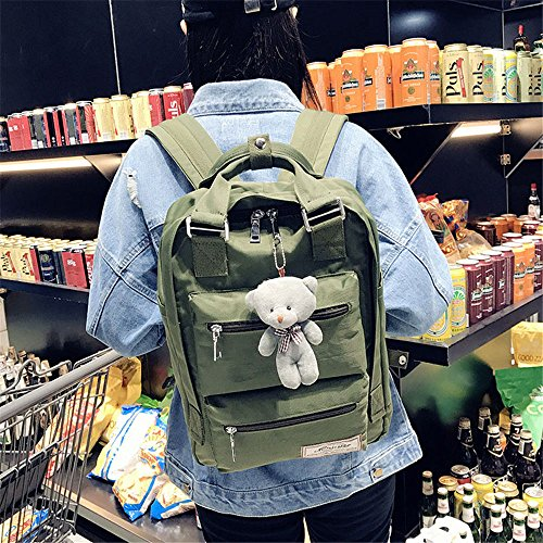 Early School Bolsa Doble 41cm School Lona De Nylon De Bolso Waterproof School Mszyz Duffel High Principios Mochilas Backpacks Nylon Impermeable High 28 De Escolares Green Green Shoulder 12 41cm Double rosa Hombro 12 28 Bag Pink Mszyz Bag tF4qw7x