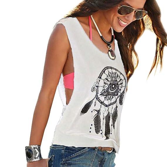 Camisetas Sin Manga Mujer Camiseta Sin Mangas Camisas de Mujer Blusas Camisa Camisetas de Tirantes Anchas Personalizadas Chica Chalecos Verano Poleras Top ...