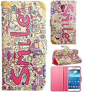 S4 Cute Cases,Galaxy S4 Case,Kaseberry Beatiful Smile Design Slim Protective leather Wallet Cover Case with Stand Feature for Samsung Galaxy S4/i9500
