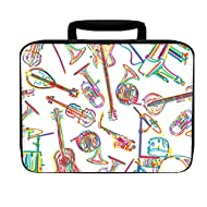 Music Musical Instrument Insulated Lunch Box Bag