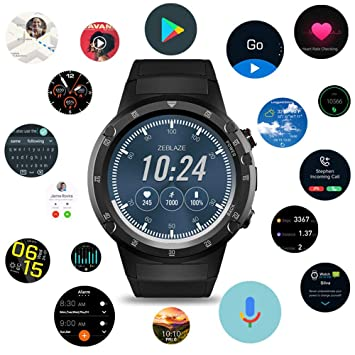 Amazon.com: Zeblaze THOR4 Plus Smart Watch Phone Sports Men ...
