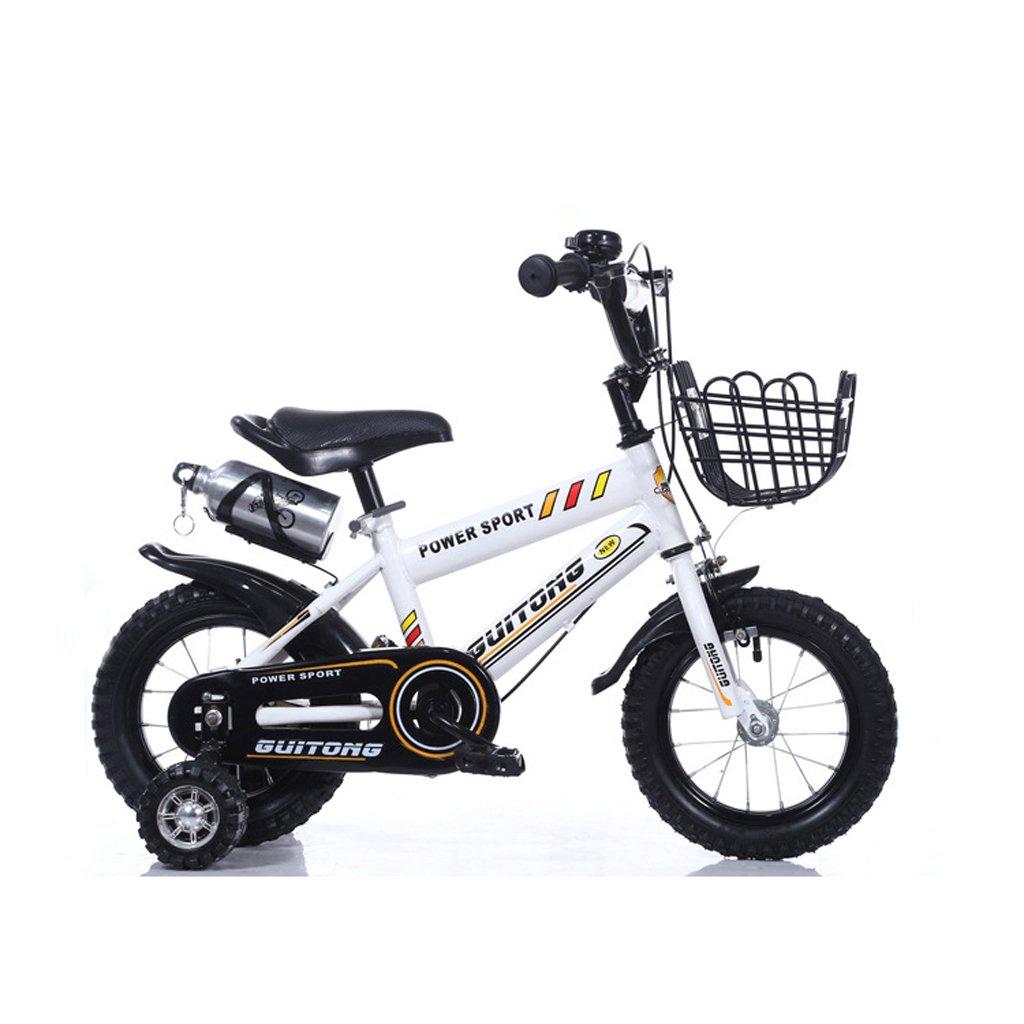 Fenfen子供の自転車16インチベビーベビーカー赤ちゃんバイク4 – 7 Years Old高炭素鋼マウンテンバイク、ホワイト B07CTF88T2