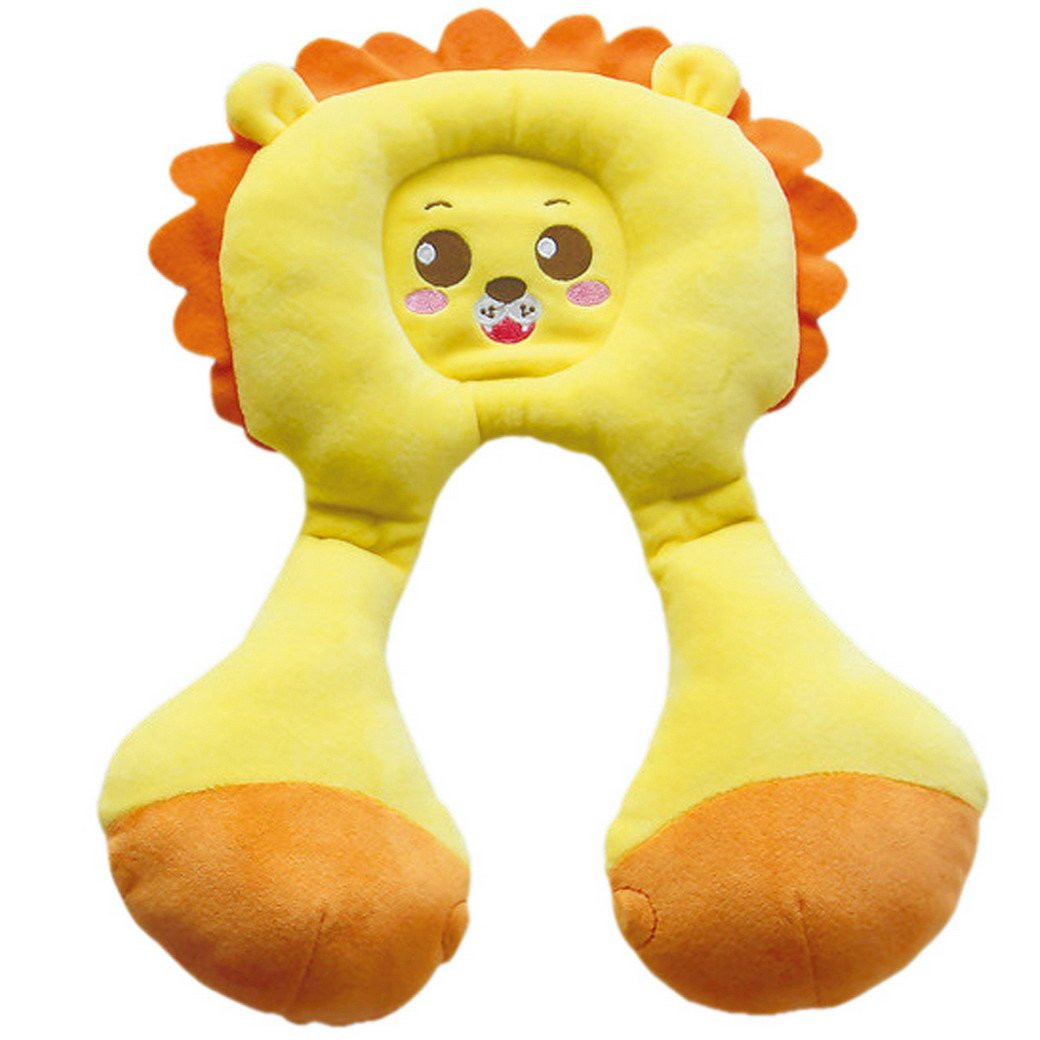 Happy Cherry Infant Travel Neck and Head Support Protector Stroller Car Headrest Pillow For Baby Lion