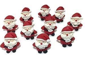 Lot of 10 Miniature Santa Fairy Garden Supplies Christmas Figurine Furniture Dollhouse GD#007