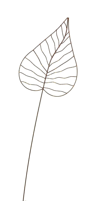 Rankhilfe Gartendeko H/öhe 140 cm Crispe home /& garden Gartenstecker Edelrost Herzblatt gro/ß