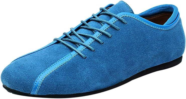 Zapatillas de Running para Hombre, Sencillo Vida Zapatillas de Deporte Unisex Adulto Transpirables Zapatos para Correr Gimnasio Senderismo Aire Libre Sneakers Casuales Hombres de Cordones: Amazon.es: Zapatos y complementos