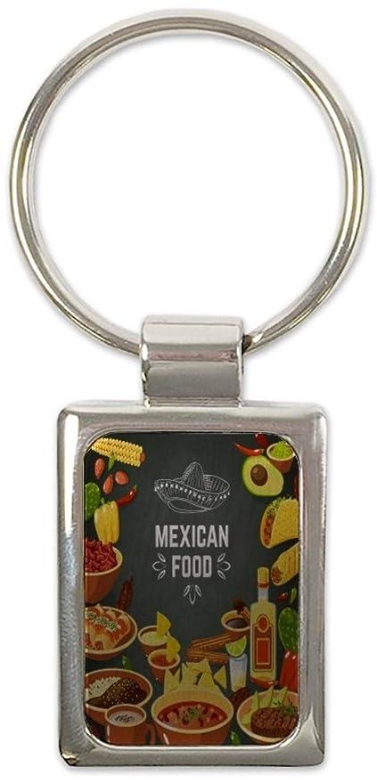 Llavero Cocina comida mexicana impreso: Amazon.es: Coche y moto