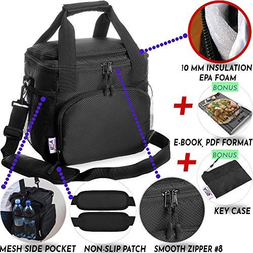 insulated lunch bag for men women adults work kids cooler box travel bags nylon 691167490614 ebay. Black Bedroom Furniture Sets. Home Design Ideas