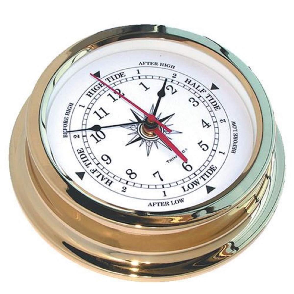 Trintec Solaris Brass Time & Tide Clock