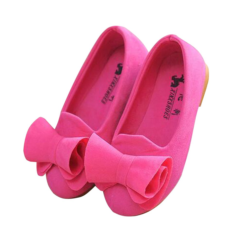 BININBOX Girls Bowknot Flat Shoes Princess Girls Dress Shoes Kids