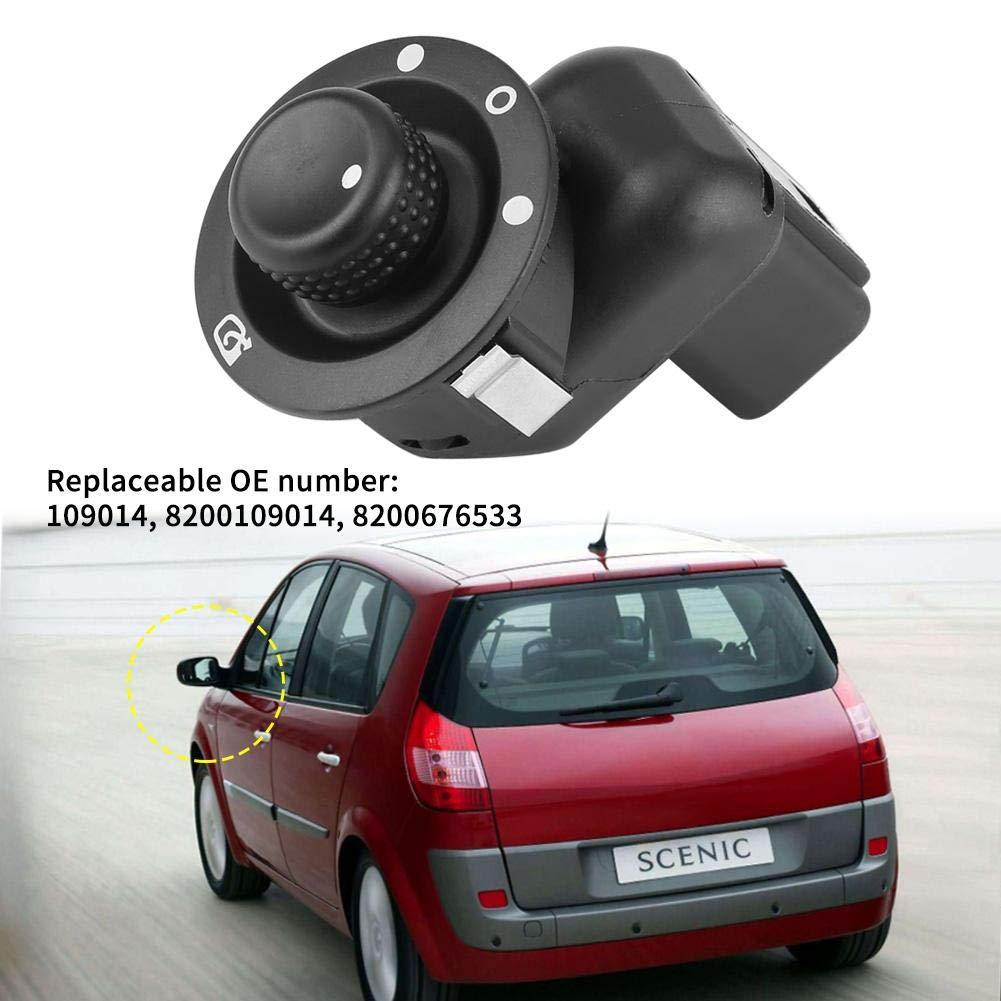 Fydun Auto R/ückspiegel Schalter Elektrischer Entsprechend den urspr/ünglichen Werksspezifikationen Passen Sie Perfekt zu Ihrem Auto f/ür 109014 8200109014 8200676533 Schwarz