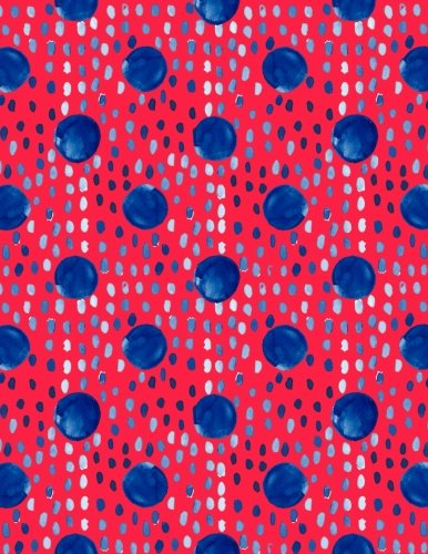 Big Fat Journal Notebook Indigo Blue Ink Spots and Dots on Red: 300 Plus Lined and Numbered Pages With Index Pages In Large 8.5 by 11 Size, Perfect ... Doodling. (Big Fat Lined Journal) (Volume 35) pdf epub