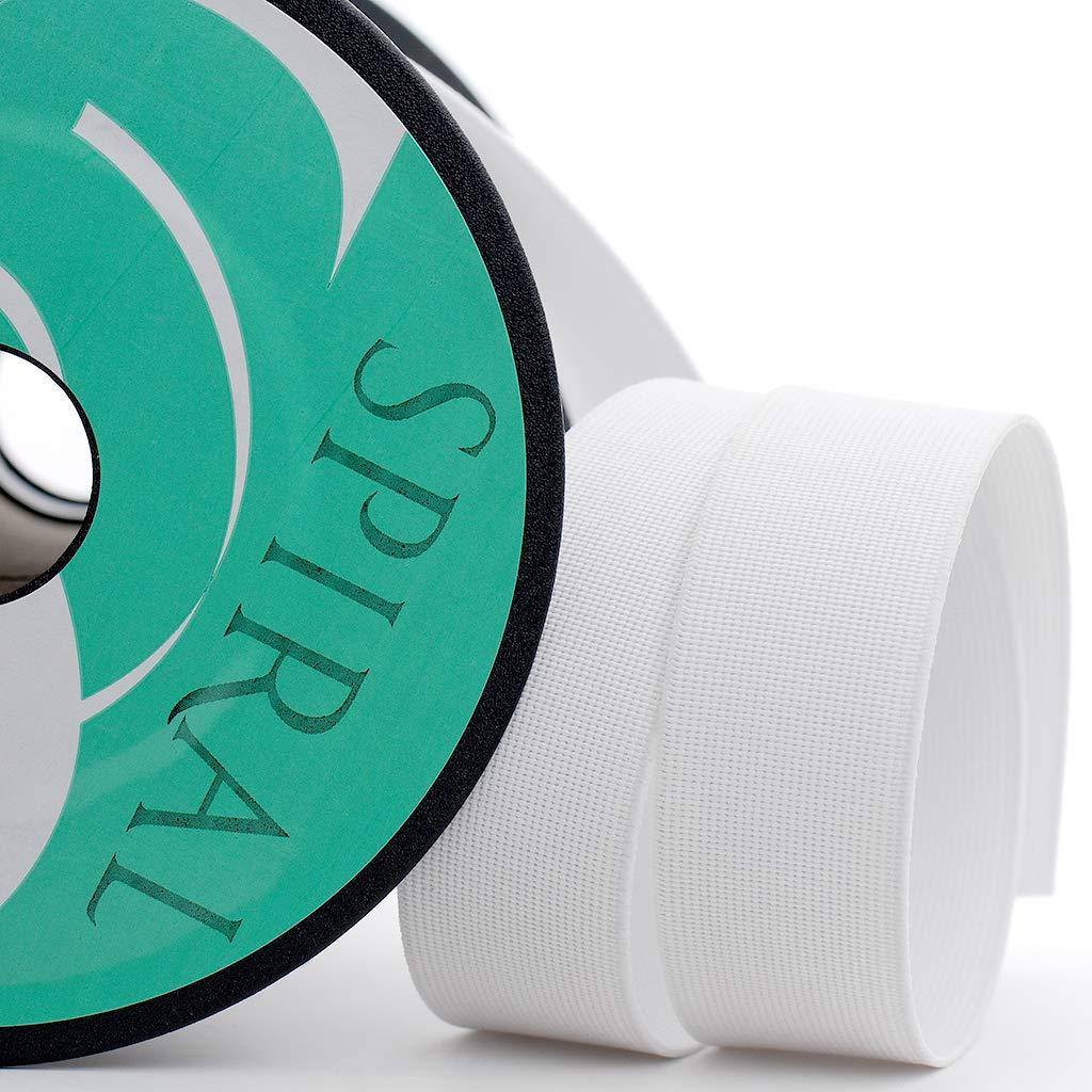 Spiral Cinta el/ástica para mercer/ía en Rollos de 25 Metros Blanco, 30mm
