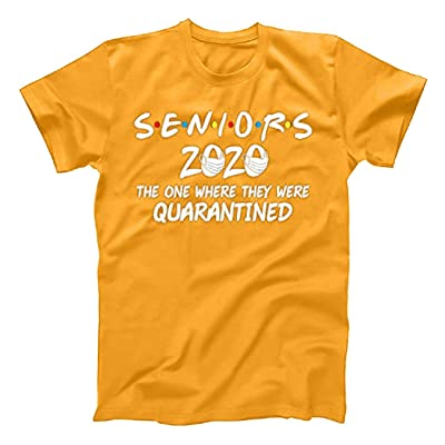 Boomboom Women's Personality Short Sleeve Seniors 2020 The One Where They were Quarantined Social Distancing T-Shirt: Clothing