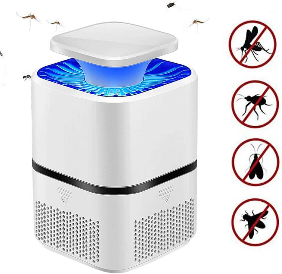 Lámpara Antimosquitos, Asesino de Mosquitos, Electric Bug Zapper, Mosquito Killer Lamp, Portátil Carga por USB sin Ruido y Radiación, Tranquilidad Ambiente para Dormir (Blanco)