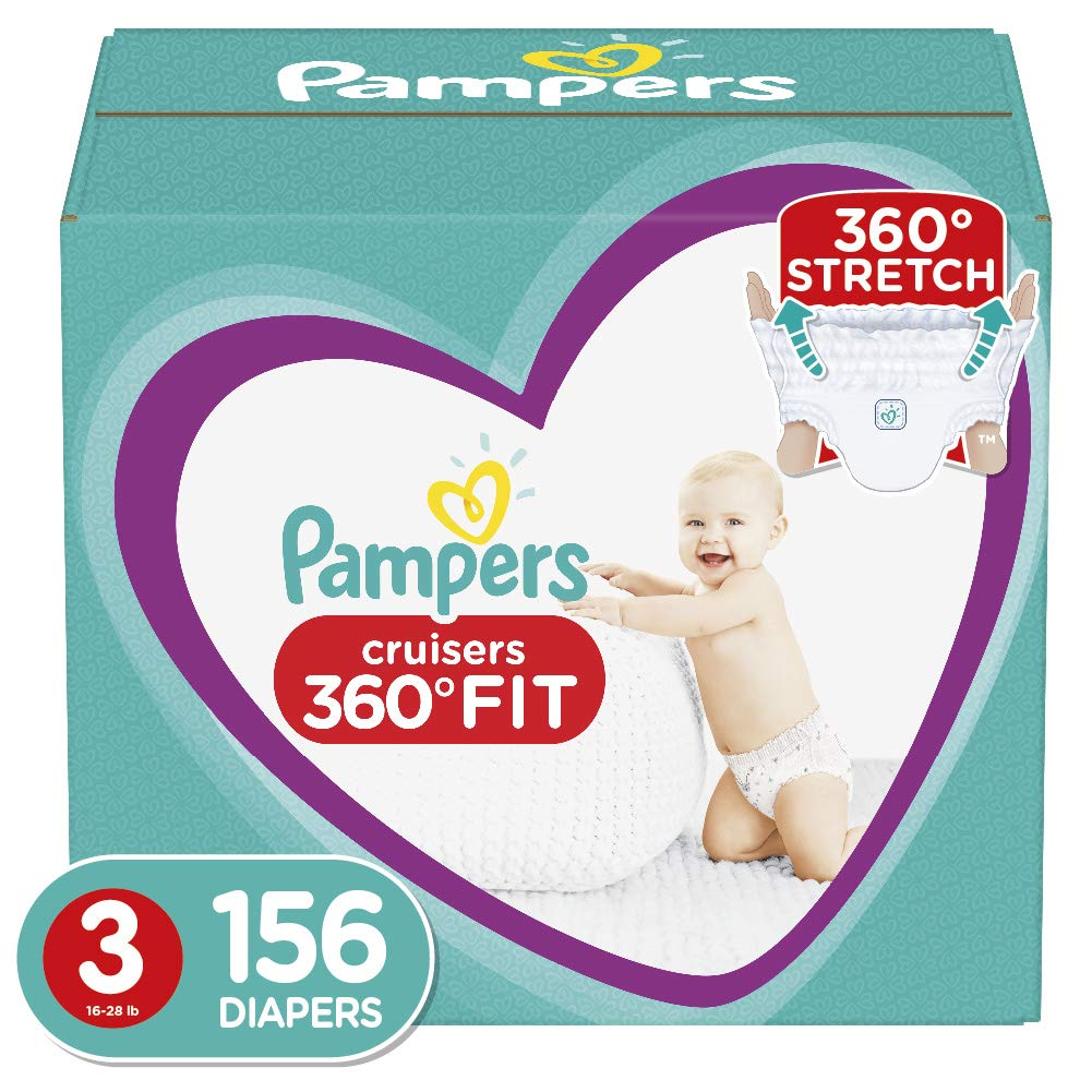 Diapers Size 6, 92 Count – Pampers Pull On Cruisers 360˚ Fit Disposable Baby Diapers with Stretchy Waistband, ONE Month…