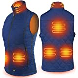ARRIS Heated Vest for Women, Size Adjustable 7.4V Battery Electric Warm Clothing for Hiking Camping Skiing