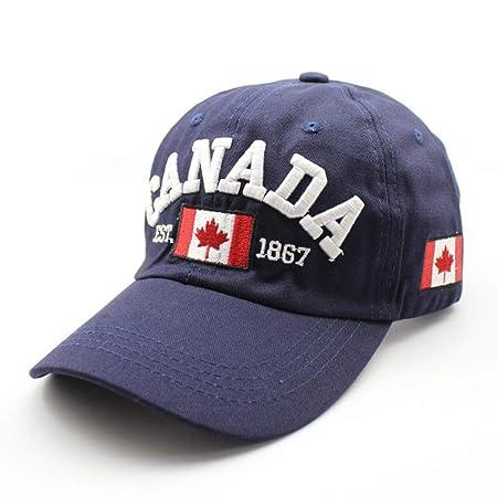 zhuzhuwen Letra Bordada Bandera de Canadá Gorra de béisbol de ...