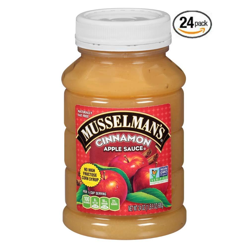 Musselman's Cinnamon Apple Sauce, 24 Ounce (Pack of 24) by Musselmans