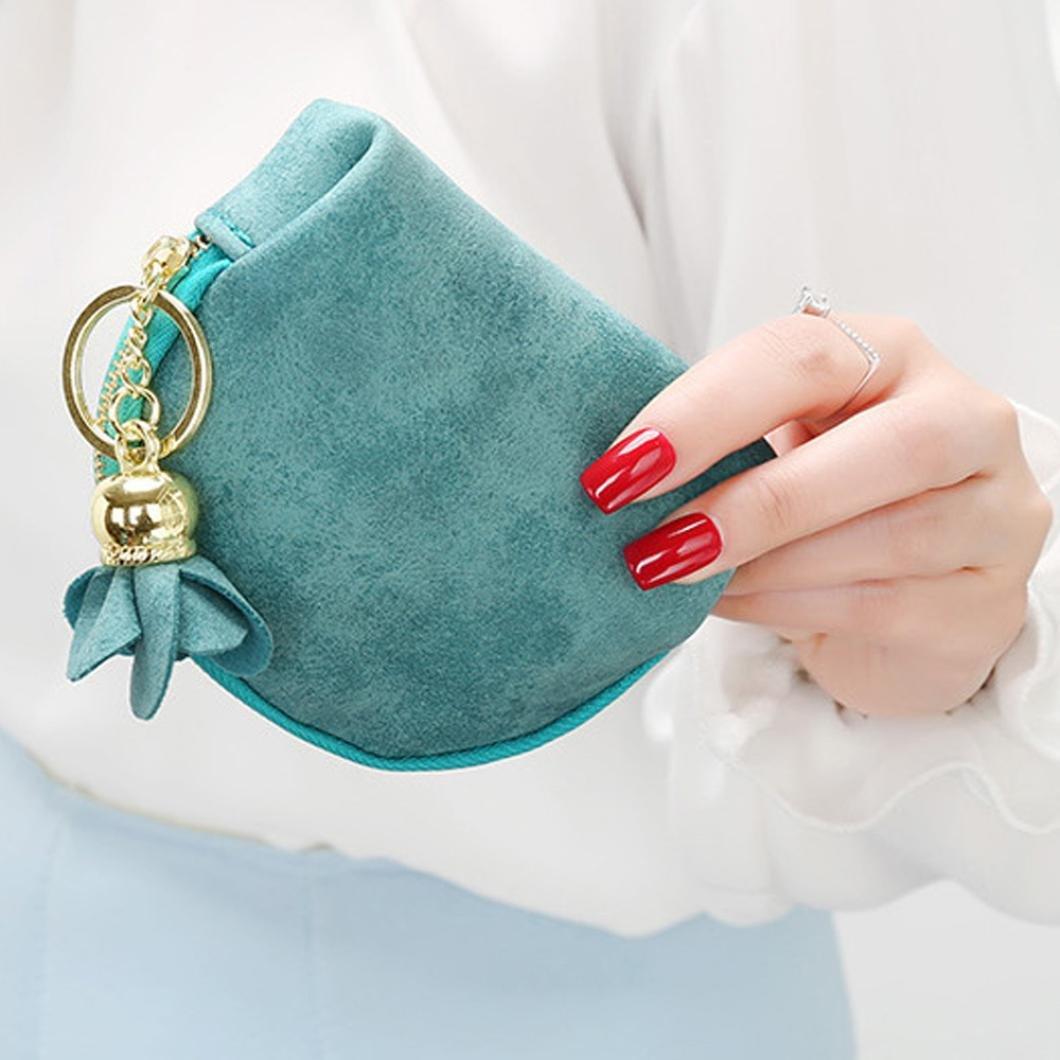 Vovotrade/® Femmes Mini Grind la Magie Cuir Bifold Wallet Porte Carte Portefeuille Sac /à Main avec Pendentif Rose Vente Chaude
