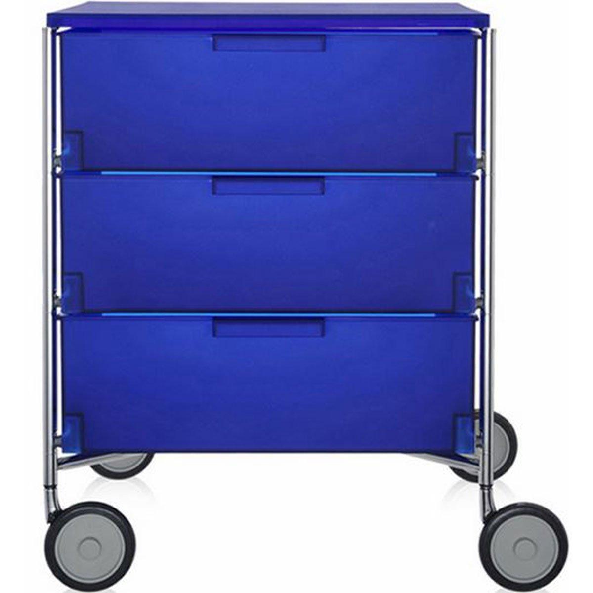 Kartell 2330L2 Container Mobil, 3 Schubladen, kobaltblau