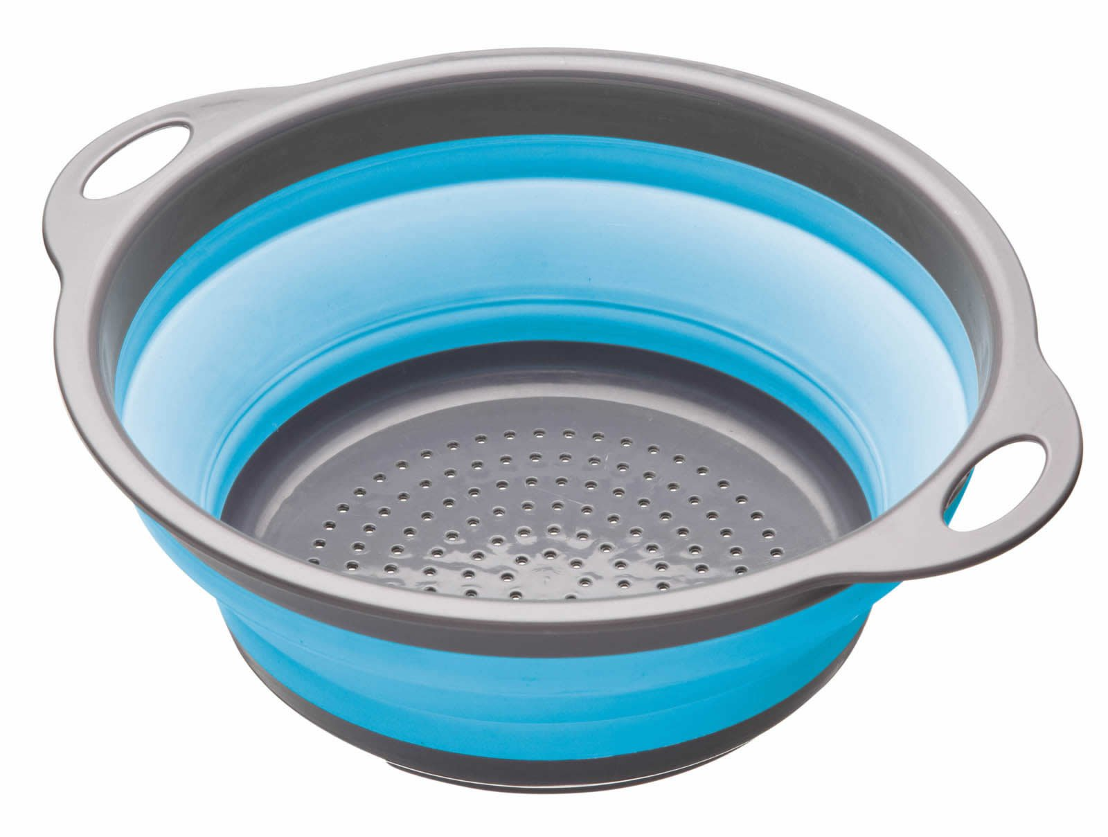 Kitchen Craft Colourworks - Escurridor plegable (24 cm), color azul product image