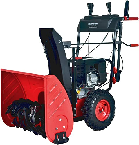 PowerSmart PSS2240C 24 in. 212cc 2-Stage Electric Start Gas Snow Blower with Free Mug