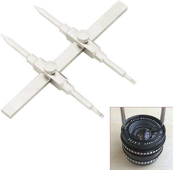 10-130mm TARION Herramienta para Objetivos Llave para Reparacion Gancho para Fijacion Herramientas para Lentes de Acero Inoxidable