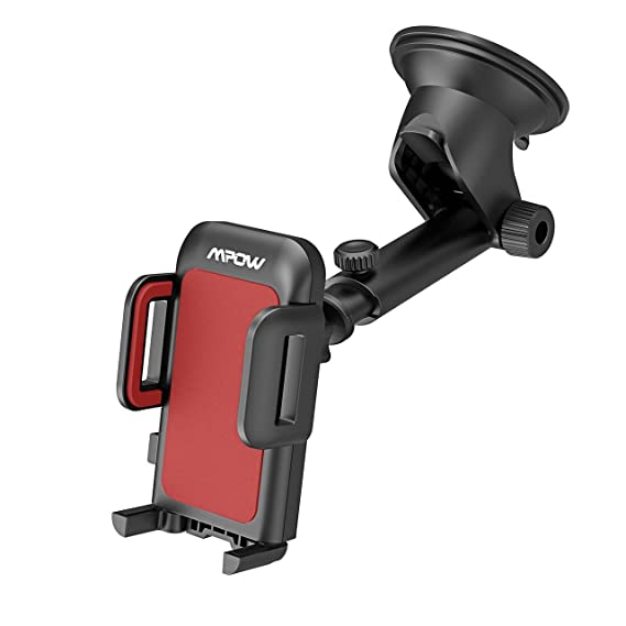 Mpow Upgrade Dashboard Car Phone MountAdjustable Windshield Holder Cradle With Strong Sticky Gel Pad