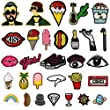 Iron On Patches,Satkago 30 Pcs Applique Sew On Patches Embroidered Patch DIY Cartoon Patches For Clothing Backpacks T-shirt Jeans Jacket