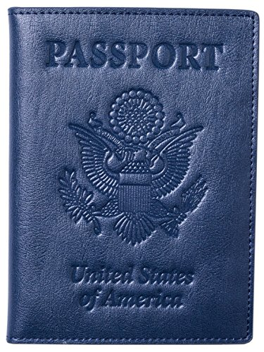 Stock Clearance Leather Passport Cover - Holder, Passport Case - Men Women, Dark ()