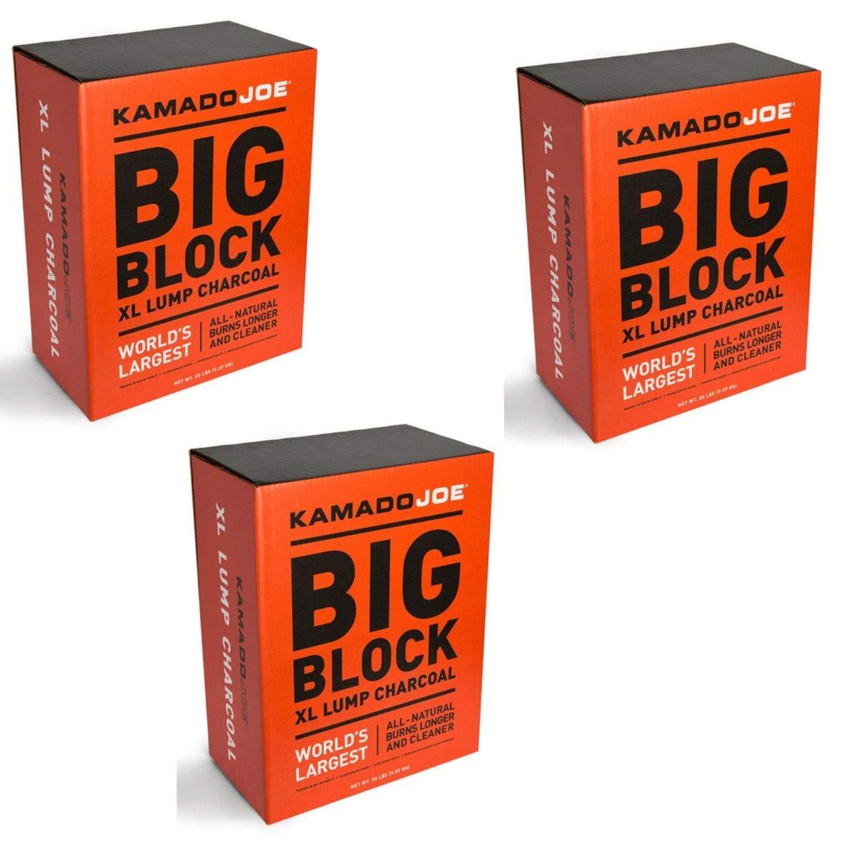 Kamado Joe KJ-Char Hardwood Lump Charcoal, Extra Large (3 Packs - Extra Large Lump Charcoal)
