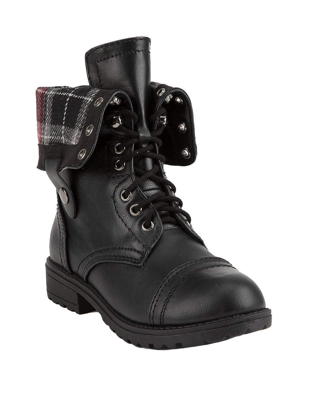 SODA Oralee Girls Combat Boots