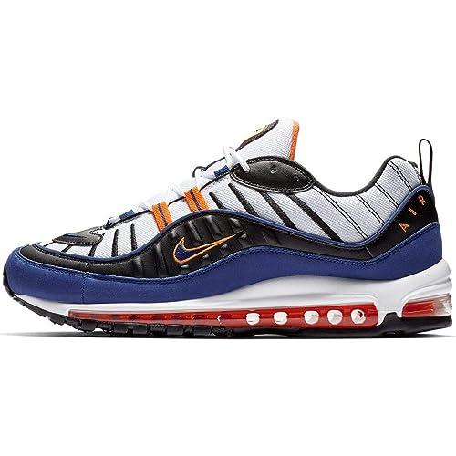 : Nike Air Max 98 (BlancoDeep Royal Azul 10.5): Shoes