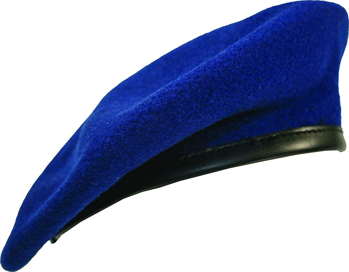 Lined Beret with Leather Sweatband