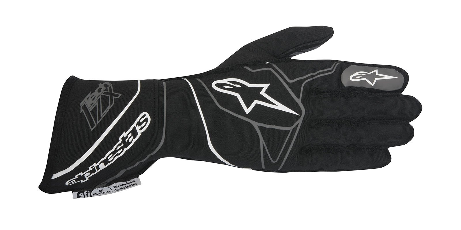 Alpinestars 2017 Tech 1-ZX Glove - Size XX-Large - Black/White - SFI 3.3 LEVEL 5/FIA 8856-2000 (3550317-12B-2XL)