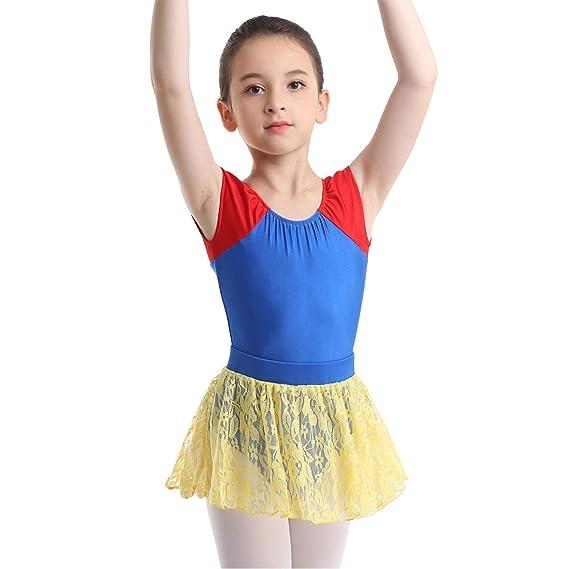dPois Niña Disfraz Bailarina de Ballet Danza Maillot con ...