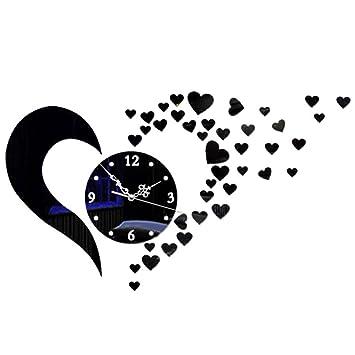 480 * 280 * 1 mm Reloj analógico con manos negras, mecanismo digital de reloj de ...