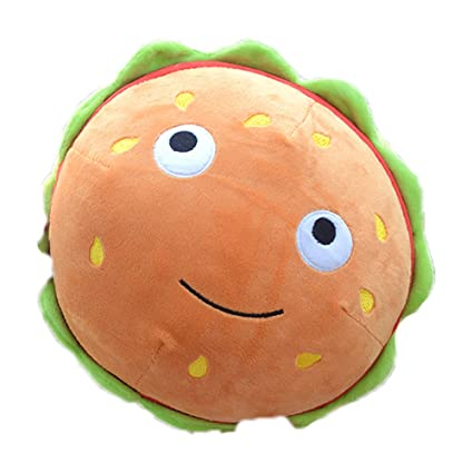Amazoncom Ins Cute Cuddly Simulation Hamburger Hot Dog Plush Bell
