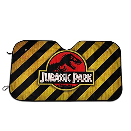 Amazon.com: MaryTiTi Jurassic Park Car Windshield Sun Shades ...