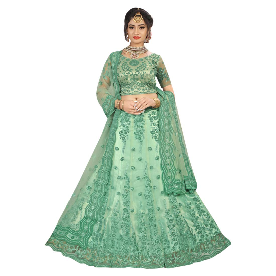 f729ea8ed17485 Amazon.com: Net Satin Stylish Lehenga Indian Party Function Designer Ghagra  Choli Designer Dupatta Muslim Women Festival 7307 (Color_5): Home  Improvement
