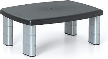 3M Adjustable 3 Leg Segments Silver:Black Monitor Stand (MS80B)