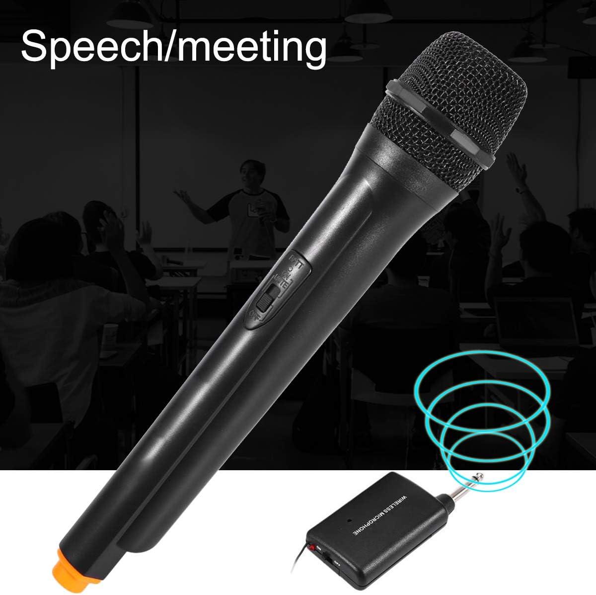 3308A VHF sans Fil Portable Emetteur a Double Canal Microphone Ensemble TOOGOO DM