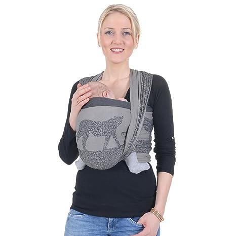 Hoppediz Z-3J masasi écharpe de portage pour bébé, avec guide binde,  Jacquard 41bce8c4a09