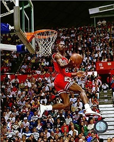 Michael Jordan 1987 Slam Dunk Contest Action Glossy Photograph Photo Print