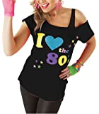 Red Olives Womens I Love The 80s T Shirt Short Sleeves Ladies Retro Pop Star Tees Top UK 8-18