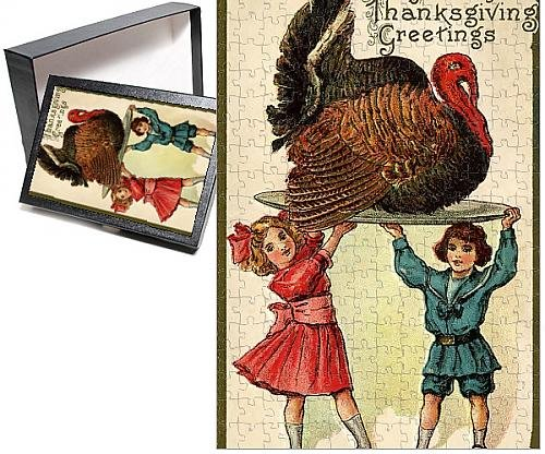 Photo Jigsaw Puzzle of Thanksgiving turkey - Circa 1920 - 252 Pieces