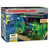 Marineland Nook Aquarium Kit with Built-in LEDs and Hidden Filtration