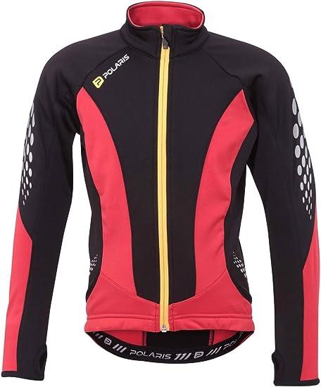 Bnwt M Nouveau Polaris Kids Alpha Manches Longues Maillot de cyclisme rouge taille S